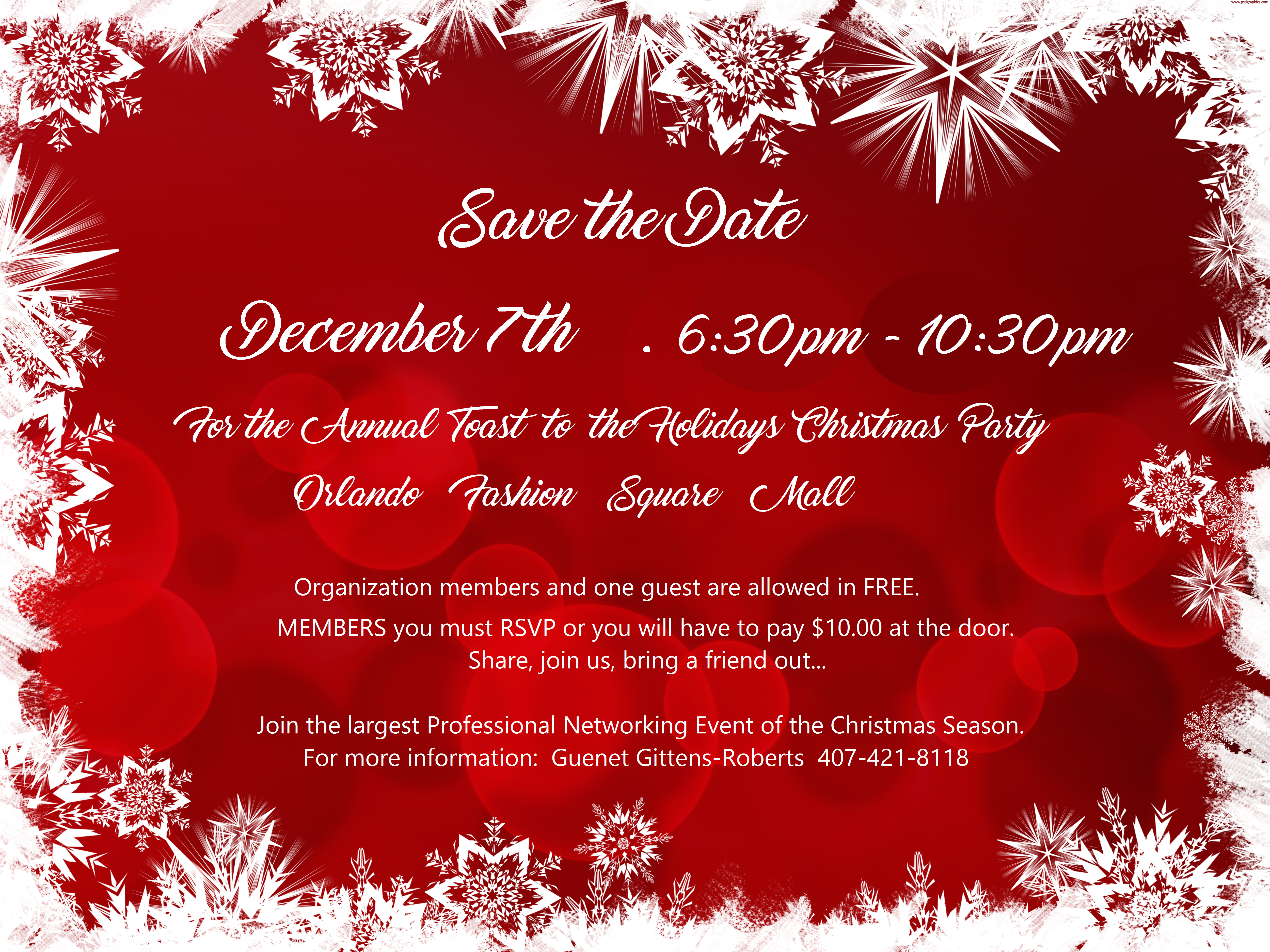5th Annual Toast To The Holidays Joint Professional Organization